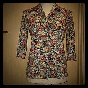 70s Vintage Floral Blazer